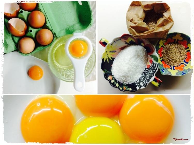 Bizcocho de coco y sésamo Ingredientes_Fotor