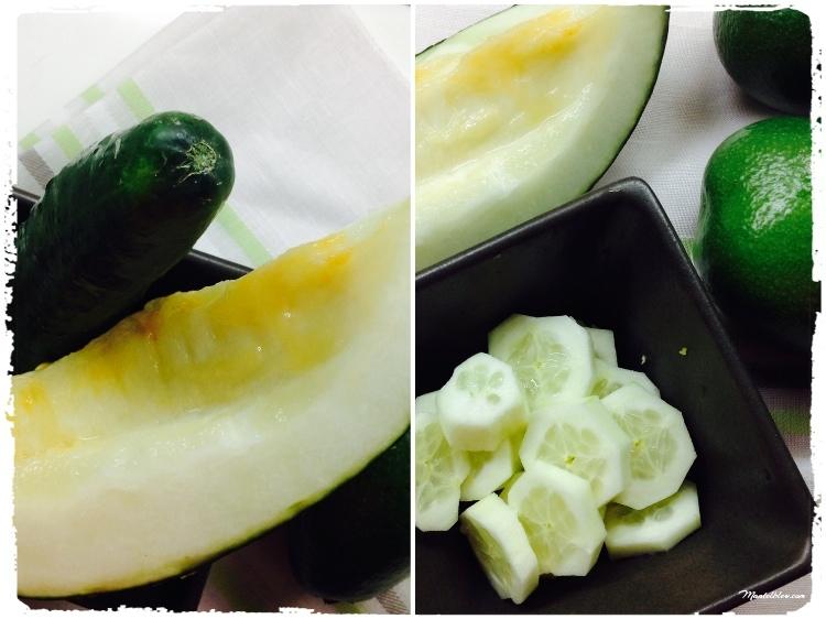 Sopa de melón y pepino Elaboración_Fotor