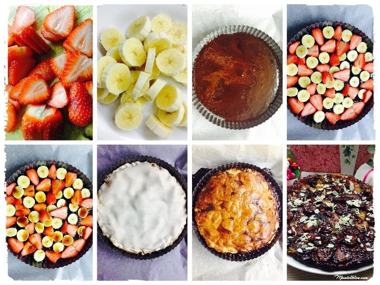 Tarta Tatin de fresa y plátano Elaboración_Fotor