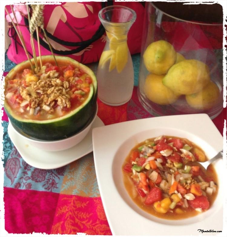 Ensalada en sandía con mango y papaya_Fotor