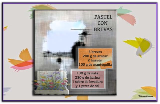 Pastel con brevas Etiquetas