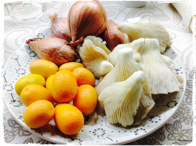 Pollo relleno en salsa con naranjas chinas Ingredientes