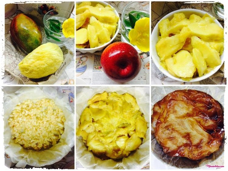 Tarta crujiente de mango Elaboración_Fotor