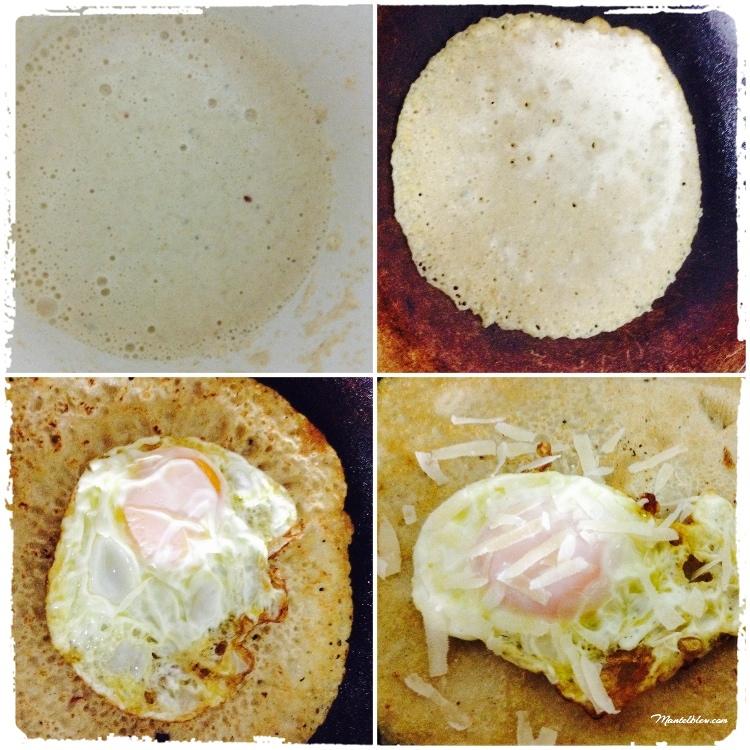Tortitas con huevo y parmesano Elaboración_Fotor