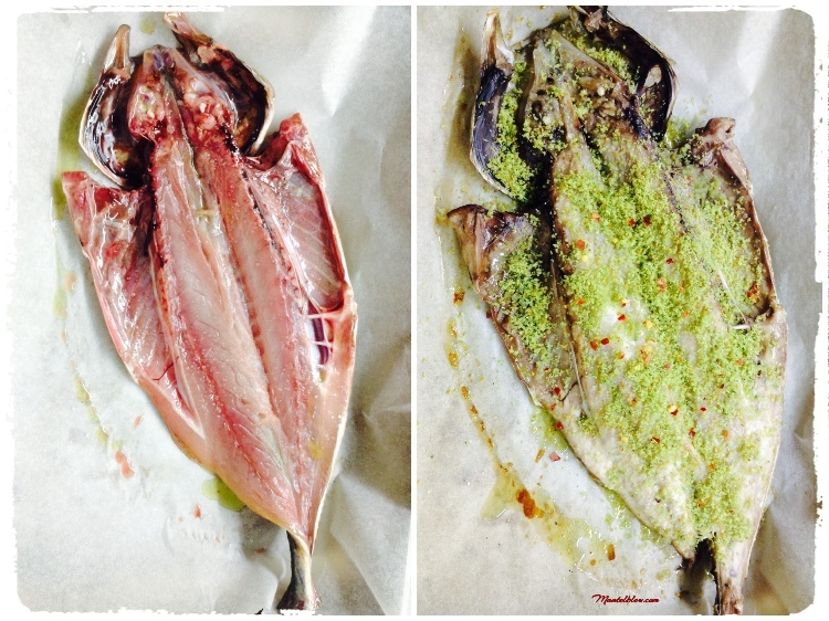 Chicharro al horno con migas crujientes y perejil Ingredientes_Fotor