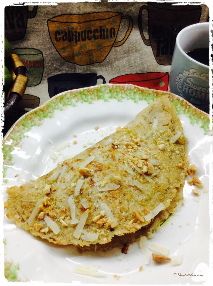 Tortitas con huevo y parmesano 2