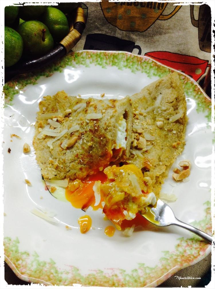 Tortitas con huevo y parmesano 5