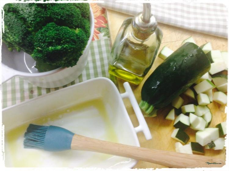 Brócoli y calabacín Ingredientes