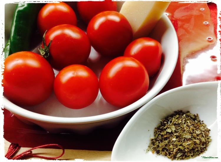 Ensalada de cherrys, guindilla y queso Ingredientes