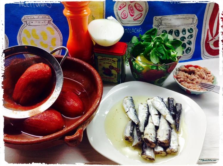 Ensalada de sardinas Ingredientes 1