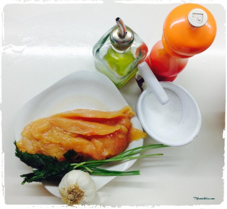 Pollo macerado con pimientos y guindillas Ingredientes
