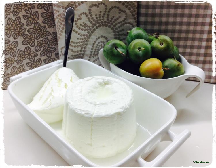 Tarta de queso cremosa con ciruelas ingredientes