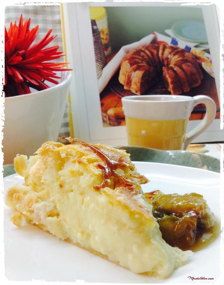 Tarta de queso cremosa con dulce de ciruelas 2