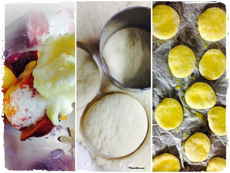 Scoones y crema de nectarinas Elaboración_Fotor