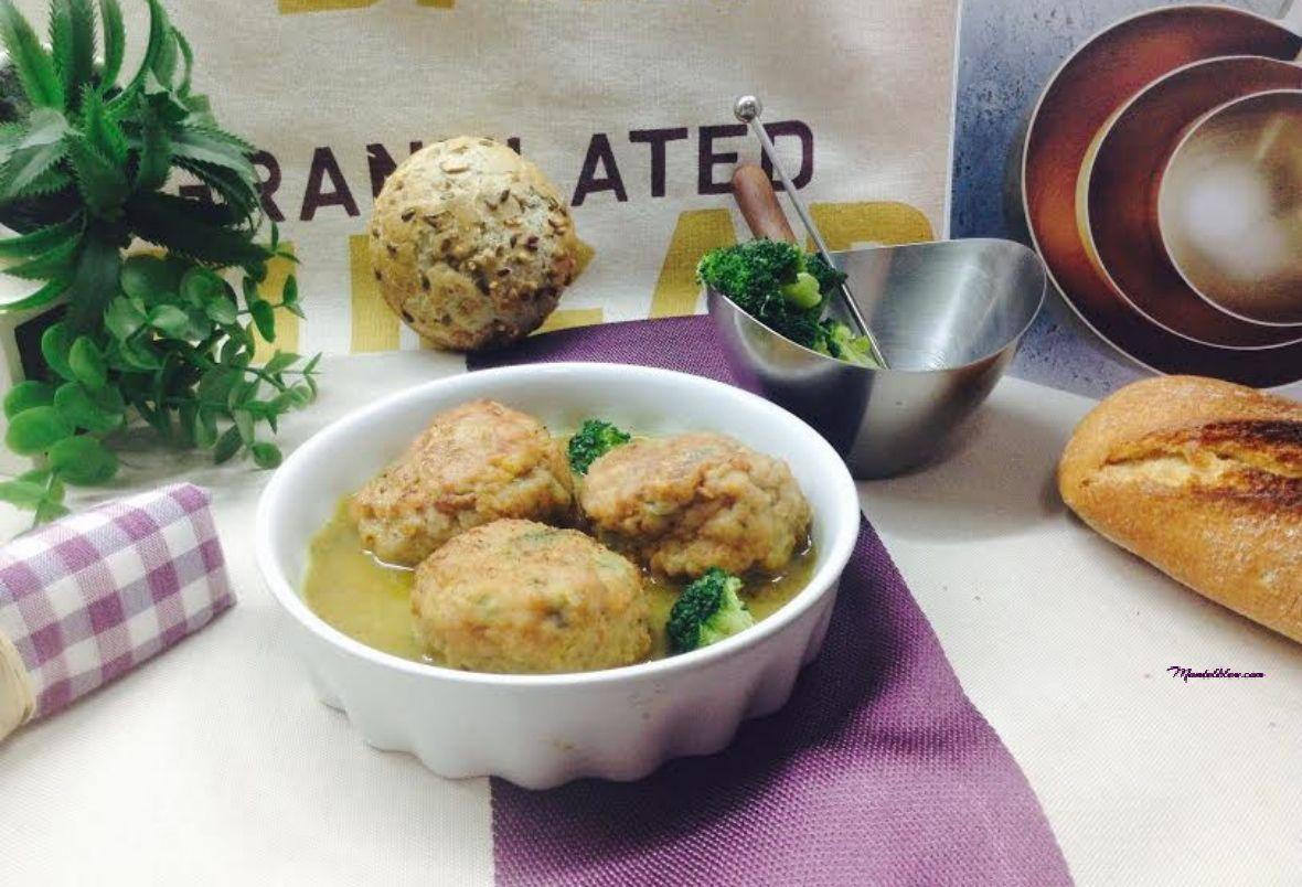 Alb ndigas rellenas de br coli y verduras mantelbleu for Albondigas de verduras